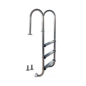 Nerezový rebrík A 3-stupňový